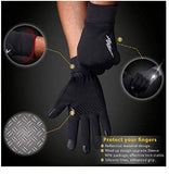 Water Resistant Outdoor Gloves Athletic Touch Screen Friendly