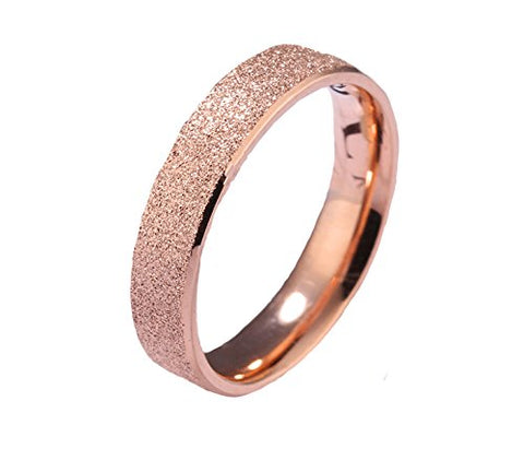 Dazzling Stardust Rose Gold Stainless Steel Ring For Girls & Women