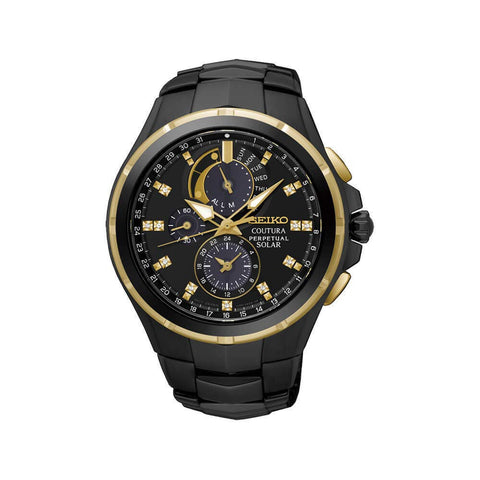 Seiko Analog Black Dial Men's Watch