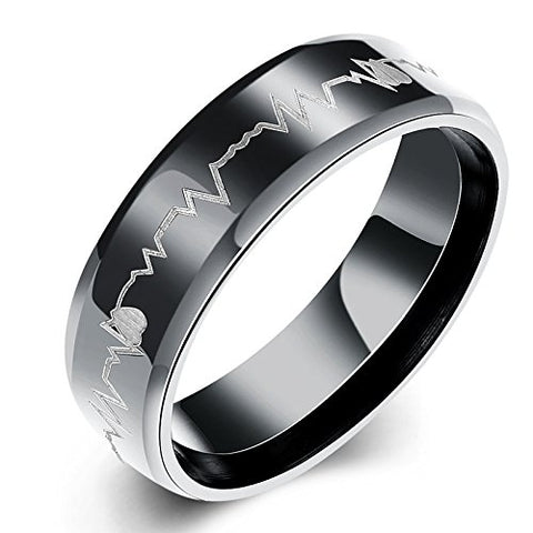 Heartbeat Love Message Stainless Steel Ring For Girls & Boys