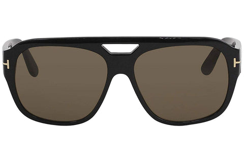 Tom Ford Shiny Black Bachardy Square Sunglasses