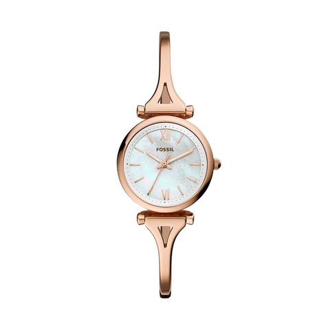 Fossil Analog Mother of Pearl Dial Women's Watch