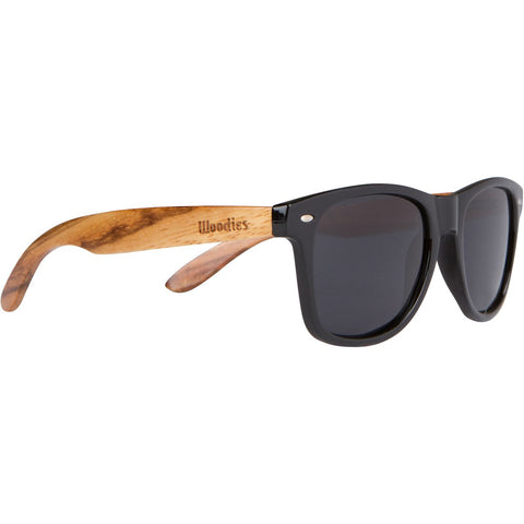 WOODIES Zebra Wood Wayfarer Sunglasses