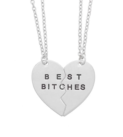 Best Bitches Partners in Crime  BFF Heart Bracelet For Girls/Women