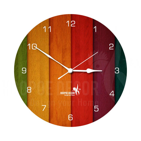 Abstract Colour Modern Wall Clock