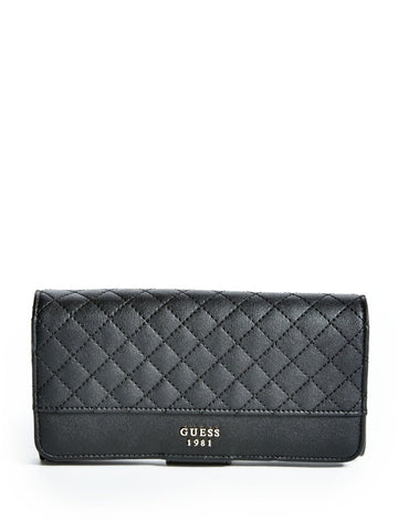 GUESS Wilson Resort File Clutch Wallet (Black)
