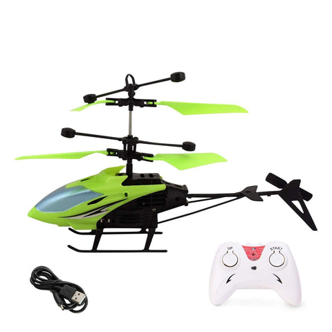 Flying Helicopter with Remote