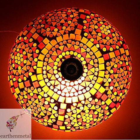 Spherical Glass Mosaic Ceiling Light