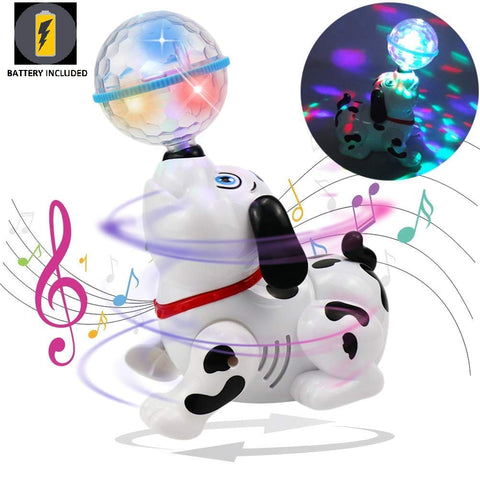 Dancing Dog with Music, Flashing Lights
