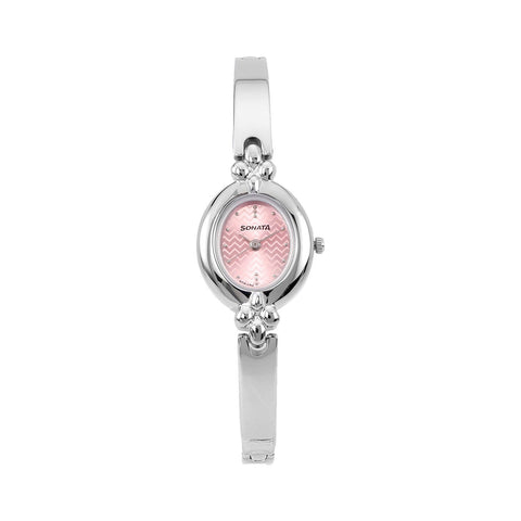 Sonata Analog Pink Dial Women's Watch