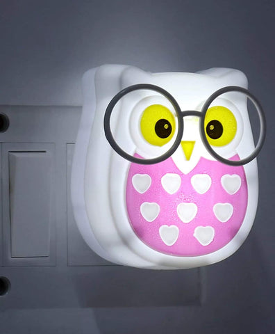 Owl Night Light for Kids Wall Lamp