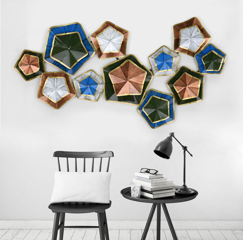 Metal Stars 3D Wall Mounted Modern Art