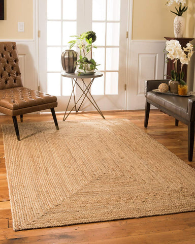 Luxurious Cotton and Jute Braided Floor Rugs