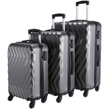Nasher Miles Lombard Set of 3 Grey Trolley Bags