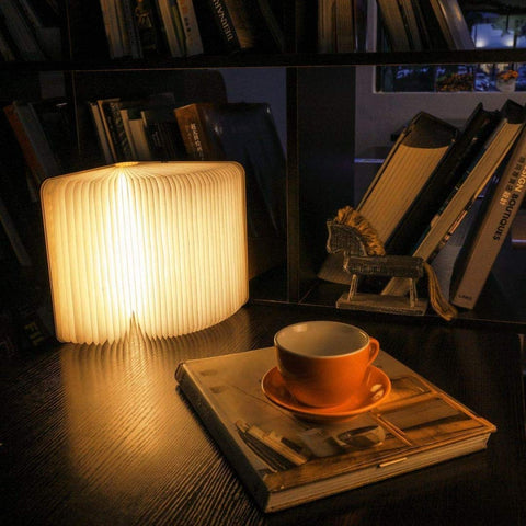 Mini Wood Book, Book Shaped Book Lamp
