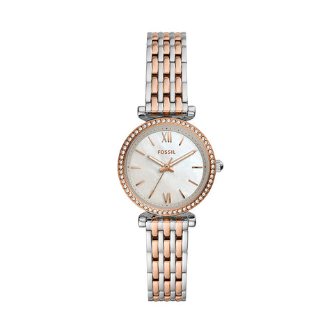 Fossil Analog White Dial Women's Watch