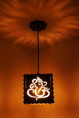 Ganesh Ji Pooja Room Ceiling Light