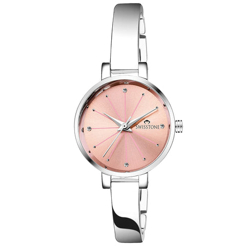 Women's Watch (Pink Dial SIlver Colored)