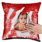 Personalized Photo Magic Red Cushion Pillow