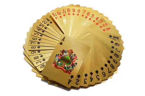 Poker Playing Cards Gold Plated