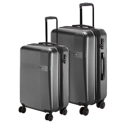 Nasher Miles Expander Set of 2 Black Trolley Bags