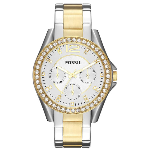 Fossil Riley Analog Silver Dial Women's Watch
