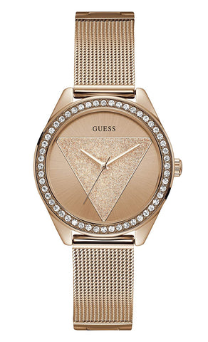 Guess Analog Rose Gold Dial Women's Watch