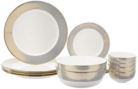 Amazon - Premium Handmade Ceramic Dinnerware Set, 14 Pieces