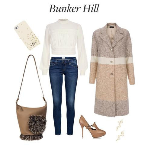 Bunker Hill featuring the Stacy Side Pocket Shoulder Bag in Camel!