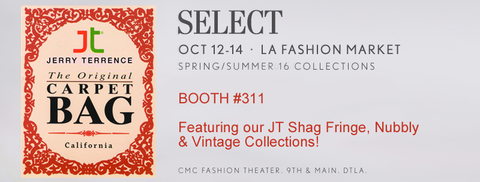 JT Carpet Bag - Booth 311 @ Select / CMC DTLA Oct 12-14th