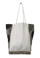 JENNY Tote, Oversized (Black & White Cava Creature)