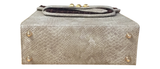 CHRISTINE Shoulder Bag (Beige & White Balboa Snakeskin)