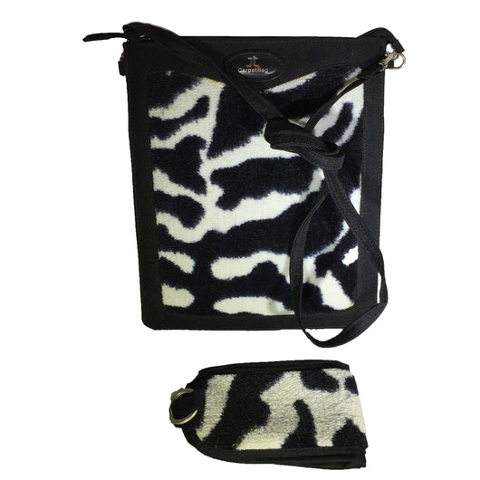 2pc Tablet & Mobile Phone Case, Black & White Zebra Neo Texture