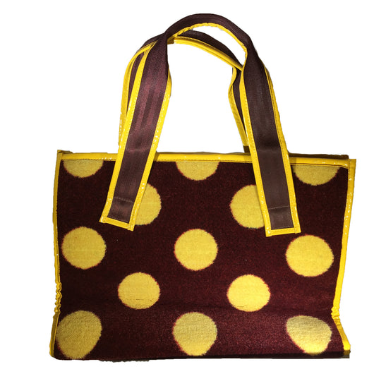 Everyday Tote, Red & Yellow Polka Dot Neo Texture