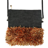 OLIVIA Crossbody, Foldover Clutch (Sizzling Orange)