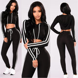 Women tracksuit  Exercise 2 piece woman set Ladies New Style pink women sweat suits