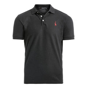 Man Polo Shirt Mens Casual Deer Embroidery Cotton Polo shirt Men Short Sleeve High Quantity polo men