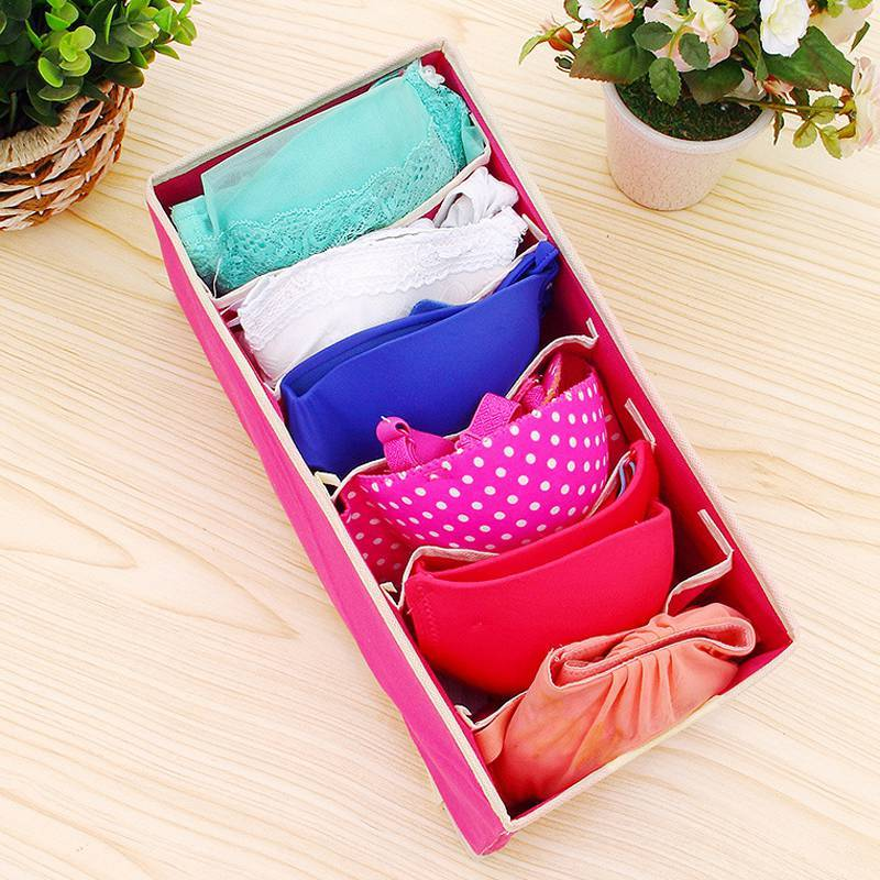Hoomall Multi-size Bra Underwear Organizer Foldable Home Storage Box Non-woven Wardrobe Drawer Closet Organizer For Scarfs Socks
