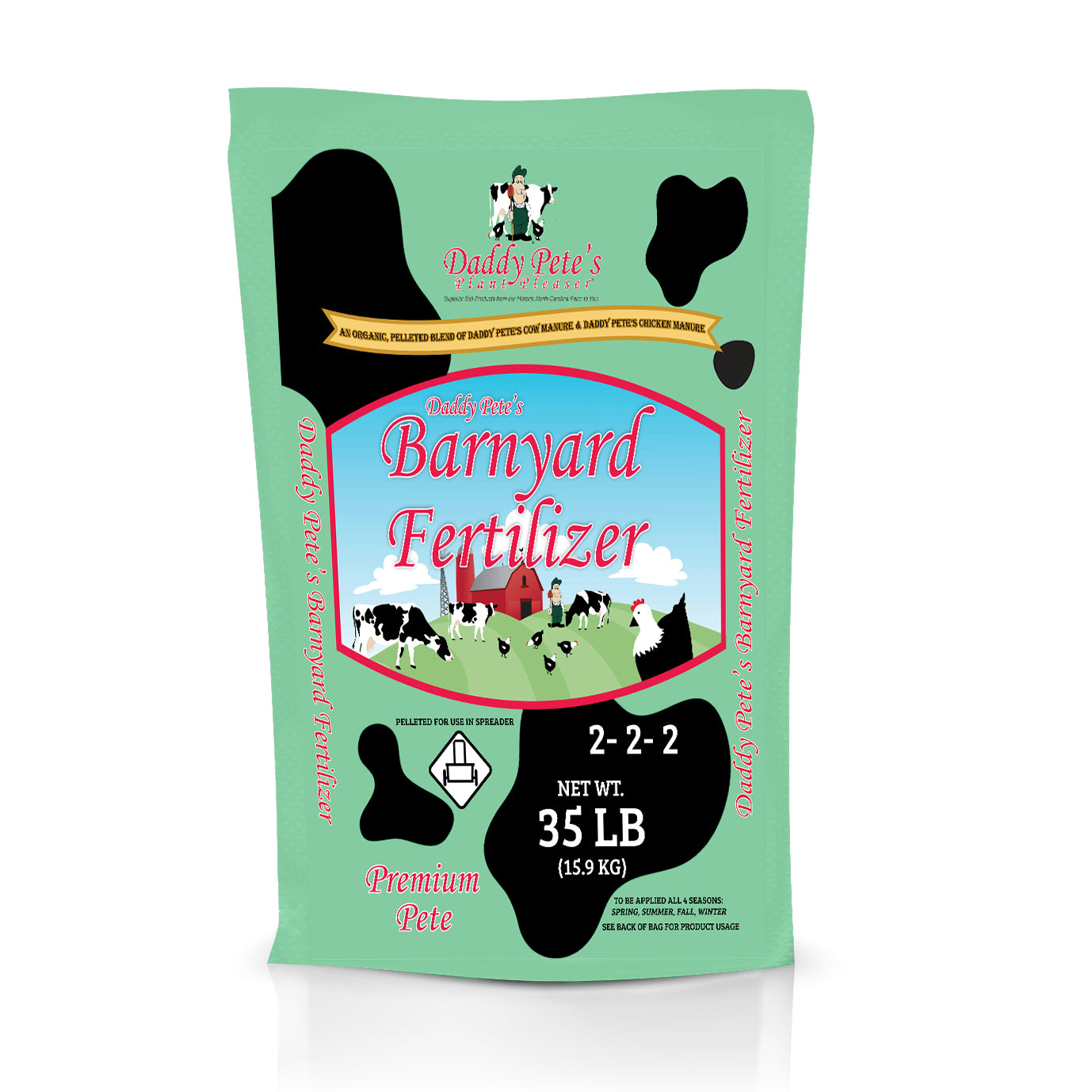 Daddy Pete's Plant Pleaser Organic Barnyard Fertilizer 35lb