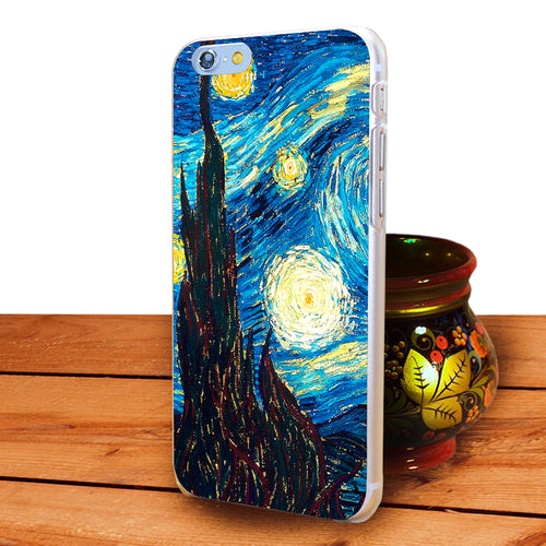 NOTTE STELLATA VAN GOGH Hard Back Cover Custodie per Apple iPhon X XS MAX  XR 6 6s 7 8