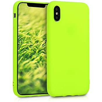 Kwmobile Cover compatibile con Apple iPhone XS Max - Giallo fluorescente