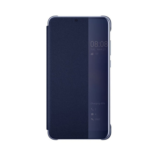 Custodia S View Flip Cover Window Case Blu Originale Huawei P20 Pro Bulk