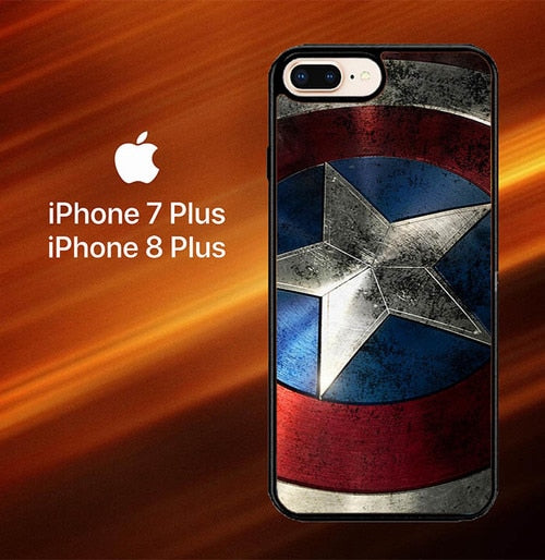 Custodia Cover iphone 7 plus 8 plus CAPTAIN AMERICA SHIELD SNAP O3169 Case