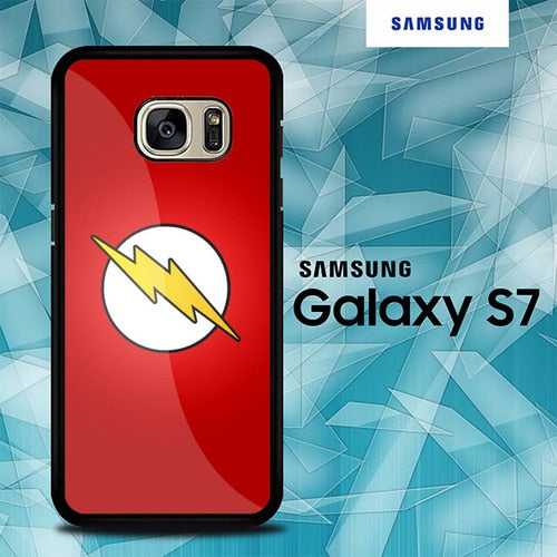 Custodia Cover samsung galaxy s7 s7 edge plus Flash Superhero Logo O7543 Case