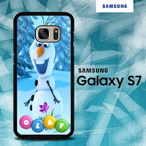 Custodia Cover samsung galaxy s7 s7 edge plus Frozen snowman flower O7557 Case
