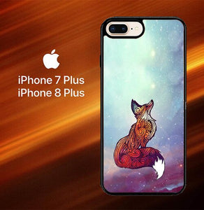 Custodia Cover iphone 7 plus 8 plus Imagine Fox O0128 Case