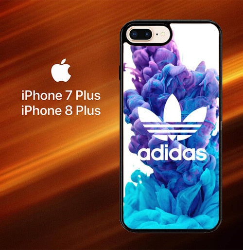 Custodia Cover iphone 7 plus 8 plus Adidas Smoke O0238 Case