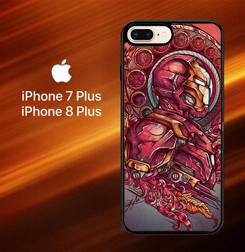 Custodia Cover iphone 7 plus 8 plus Iron-Man O0325 Case