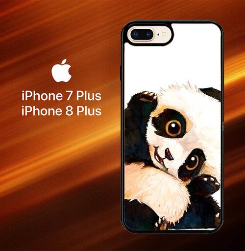 Custodia Cover iphone 7 plus 8 plus Panda Paint O0435 Case