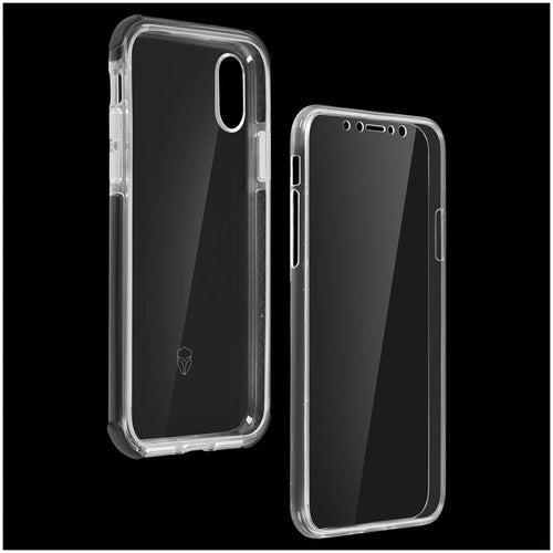 Cover Apple iPhone XS Max Protezione 360° Silicone Force Case Urban  Trasparente
